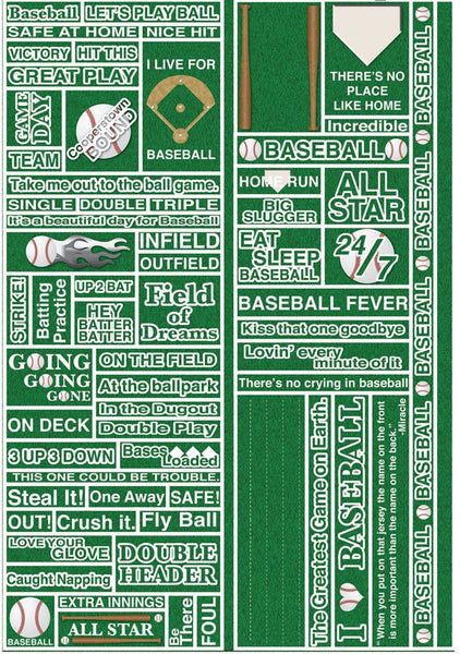 Reminisce Real Sports Baseball Quote Stickers