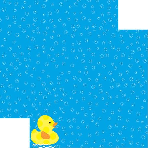 Rubber Ducky Baby Bath 12x12 Scrapbook Paper