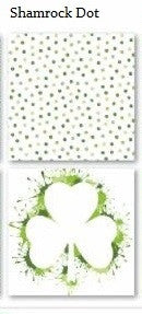 Shamrock Dot Print St Patricks Day - 12x12 Scrapbook Papers - 5pc
