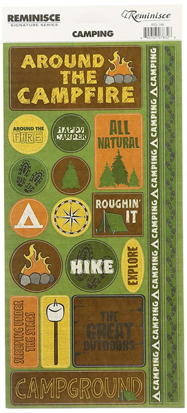 Reminisce Camping Phrase Stickers
