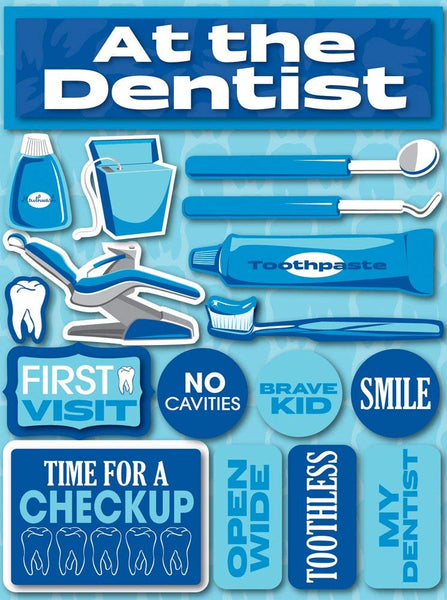 Dentist scrapbook stickers by reminisce