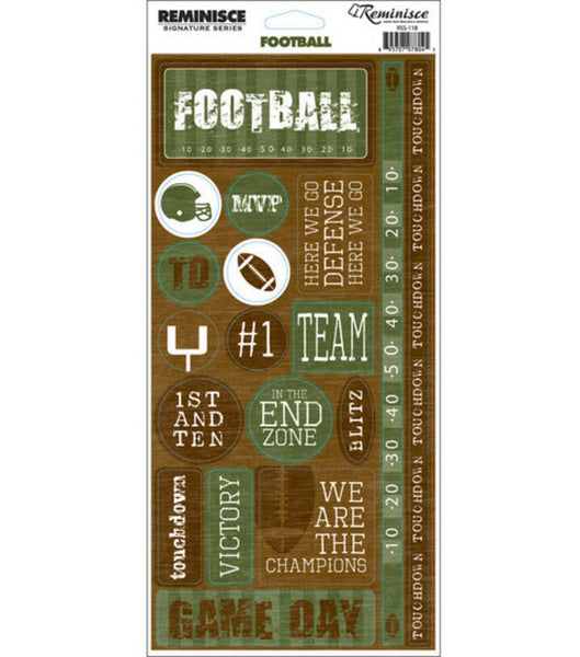 Football Phrase Stickers by Reminisce