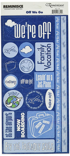 Reminisce Off We Go Travel Stickers