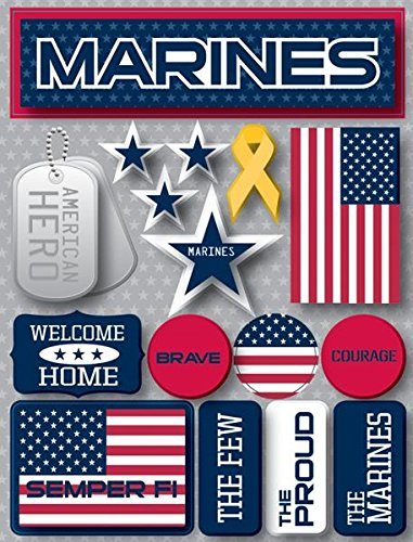 Marines 3d Stickers by Reminisce