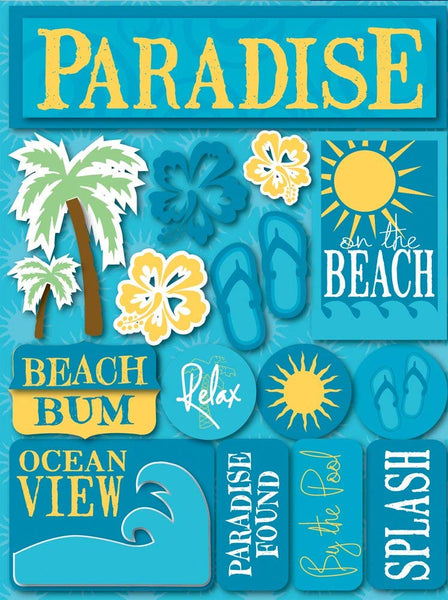 Tropical Paradise 3d Stickers by Reminisce