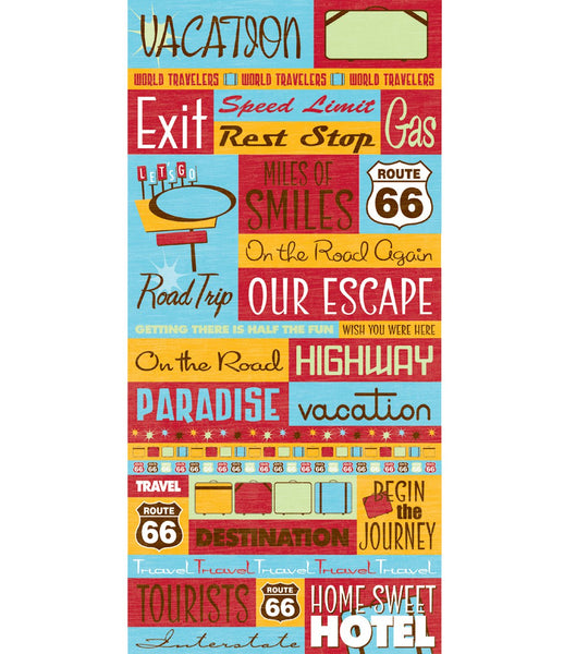 Travel Quote Scrapbook Stickers - Signature Series 2 by Reminisce