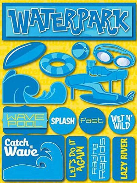 3d Water Park Stickers by Reminisce