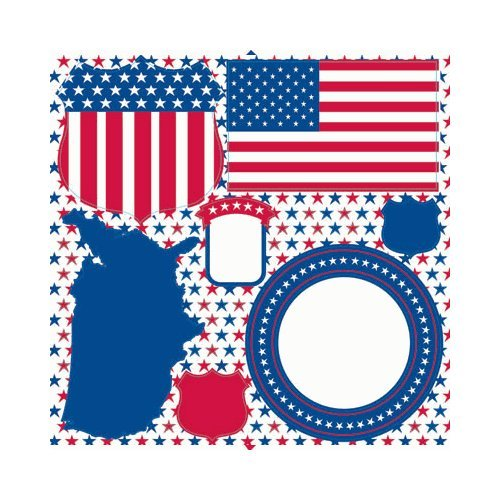 All American Icon Sticker s- The Freedom Collection