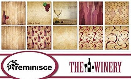 The Winery - Paper Set of 5 Sheets by Reminisce