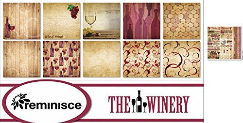 The Winery Scrapbook Papers & Stickers Set by Reminisce