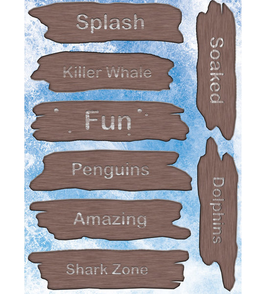 Reminisce Under the Sea 3d Wood Sign Stickers