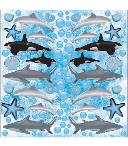 Dolphin, Sharks, Whales Stickers by Under the Sea Reminisce