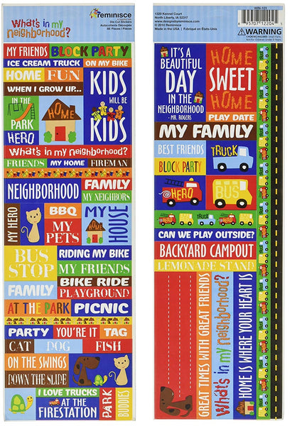 Reminisce Whats In My Neighborhood Stickers
