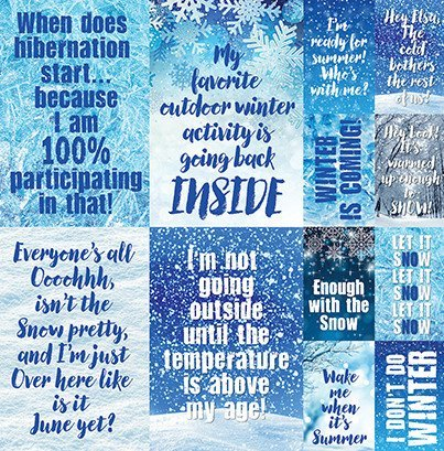 Reminisce Winter is Coming Scrapbook Stickers