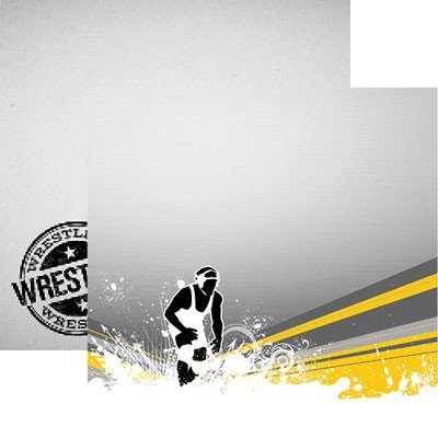 Wrestling Pin it to Win it Paper by Reminisce 12x12
