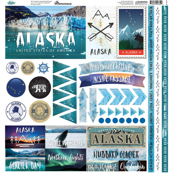 State of Alaska Stickers by Reminisce