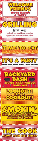 Backyard Bash BBQ Signs Chipboard Stickers