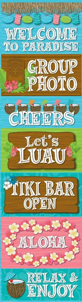 Luau Chipboard Stickers by Reminisce