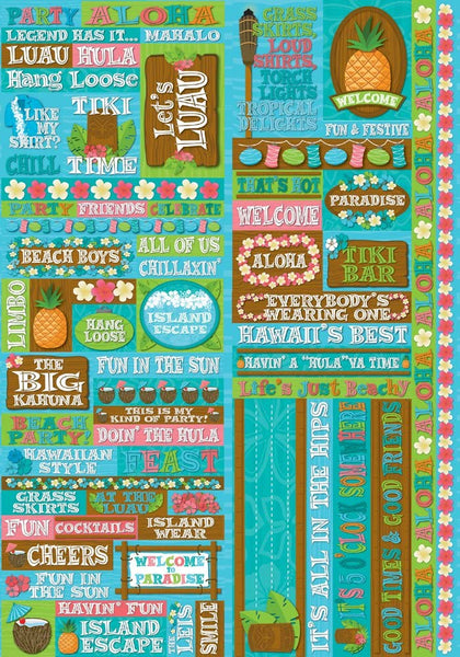 Luau Quotes Stickers by Reminisce