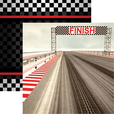 Driven - Checkered Flag Racing Paper by Reminisce
