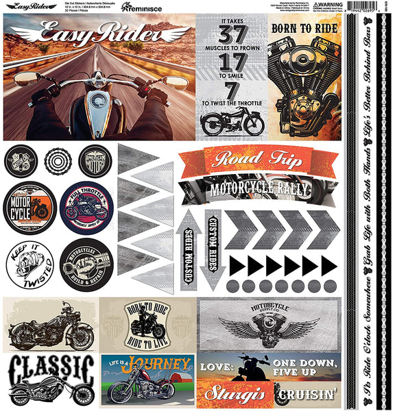 Easy Rider Motorcycle Stickers by Reminisce