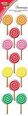 Gingerbread Lane Lollipop Chipboard Stickers