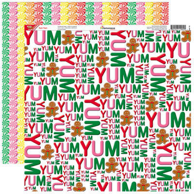 Reminisce Gingerbread Lane Yum Yum Christmas Scrapbook paper