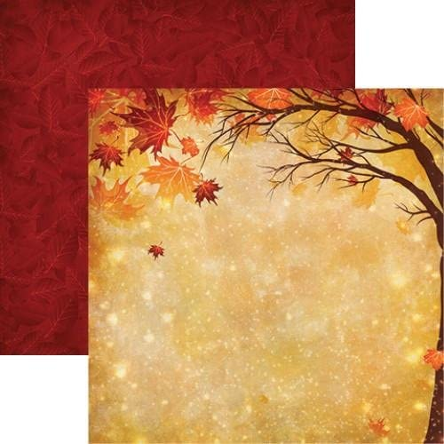 Magical Autumn Harvest Scrapbook Paper by Reminisce