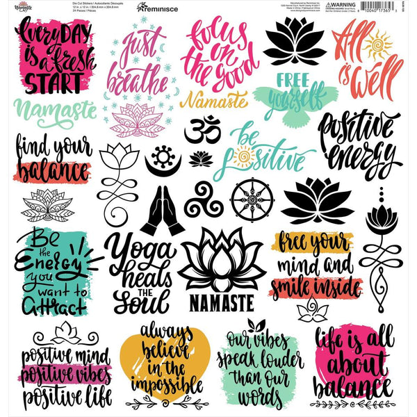 Namaste Inspirational Quote Stickers
