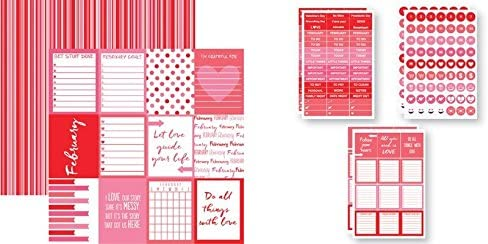 Reminisce Plan-It February Paper and Stickers