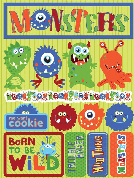 Monsters 3d Stickers by Reminisce