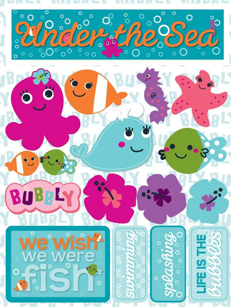Under the Sea Animal Water Stickers