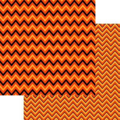 The Halloween Collection Chevron Paper