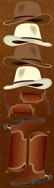 Cowboy Icon Chipboard Stickers by Reminisce
