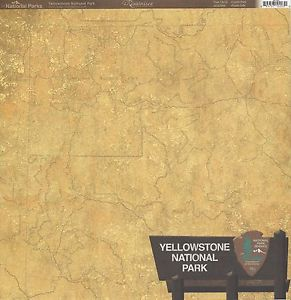 Yellowstone Scrapbook paper