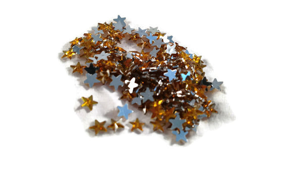 Yellow Star Rhinestones - Small 1/4 inch - 300pc