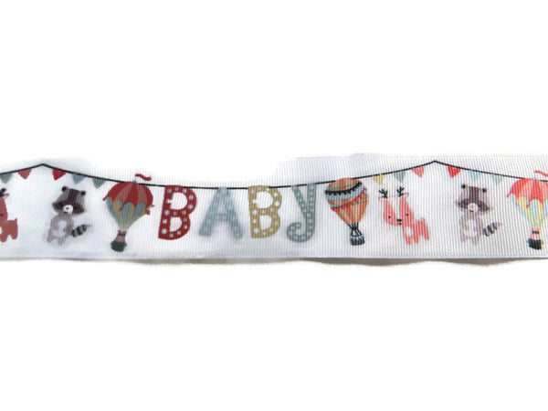Baby Bunting/Banner with Balloon Grosgrain Ribbon - 1.5Inch 3 Yards