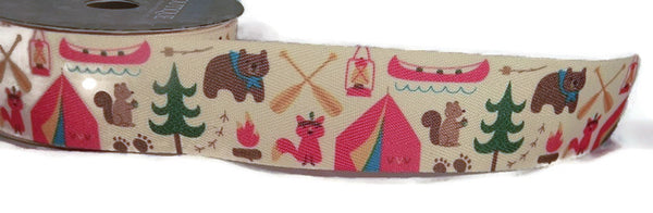 "Grosgrain Ribbon - 1.5"" Camping - 3 Yards"