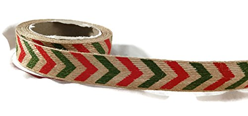 Red and Green Chevron Ribbon