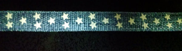 Denim Star Ribbon 4 Yards 3/8 inch wide