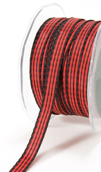 Red & Black Buffalo Plaid Ribbon 3/8 inch - 5 Yards by May Arts