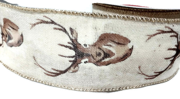Deer Buck Canvas Ribbon