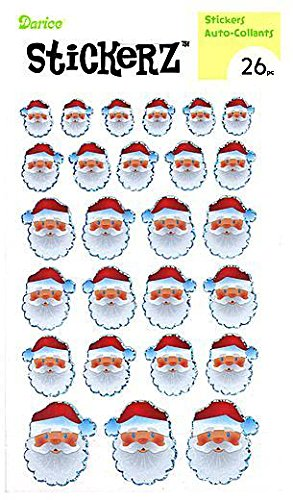 Santa clause Stickers with Foil Accents