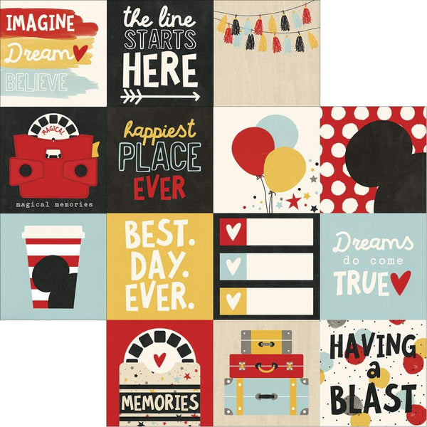 Say Cheese IIi 4x4 Journal Cards Scrapbook Paper
