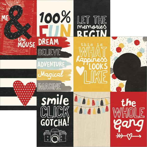 Say Cheese III 4x6 Vertical Scrapbook Paper