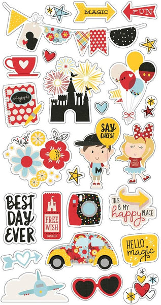 Say Cheese 4 Chipboard Stickers Set