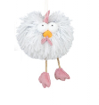 Shaggy Rooster Hanging Gray