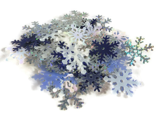 Snowflake Shimmer Shapes Decorating Scrapbooking
