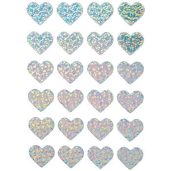 Silver Holographic Heart Chipboard Stickers