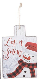 Let it Snow Wood Hanigng Sign